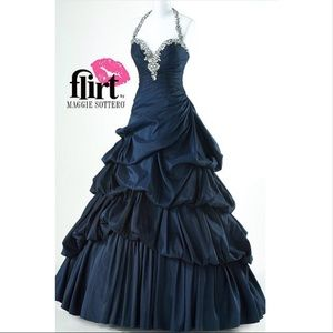 Amazing Maggie Sottero Prom Formal Dress Ball Gown